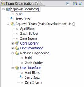 Squawk Team Organization