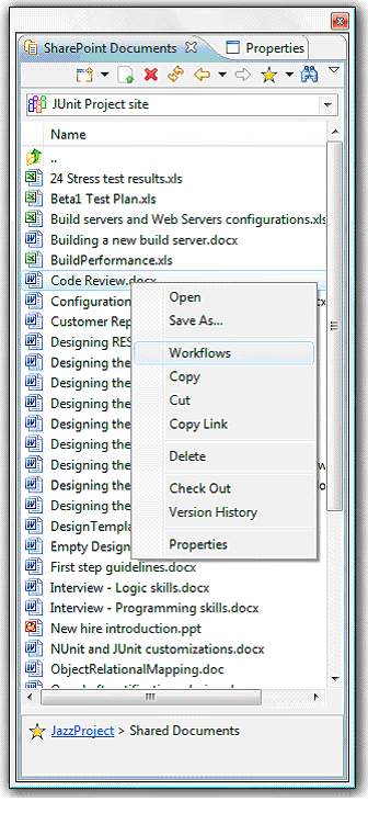 SharePoint Documents view