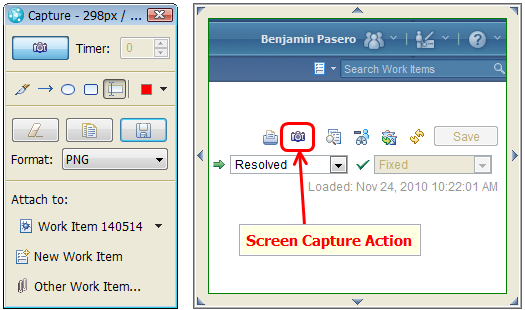 Work Item Screen Capture