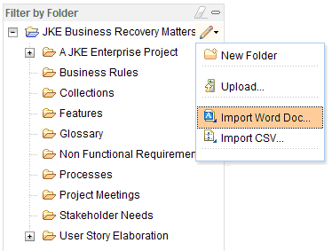 Import Word and CSV files