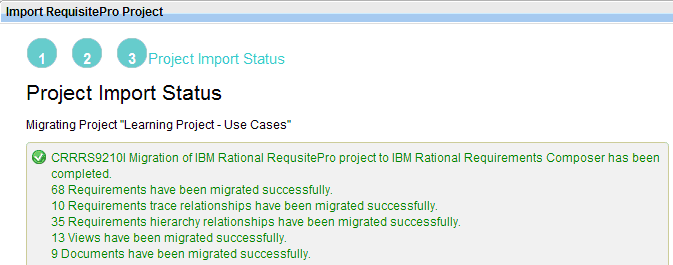 Importing a RequisitePro project