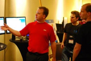 Rob demoing JazzHub Beta 2 at the ACM ICPC finals