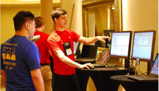 Adam demos RTC collaborative development features