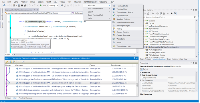 Rational Team Concert Client for Microsoft Visual Studio IDE 2012