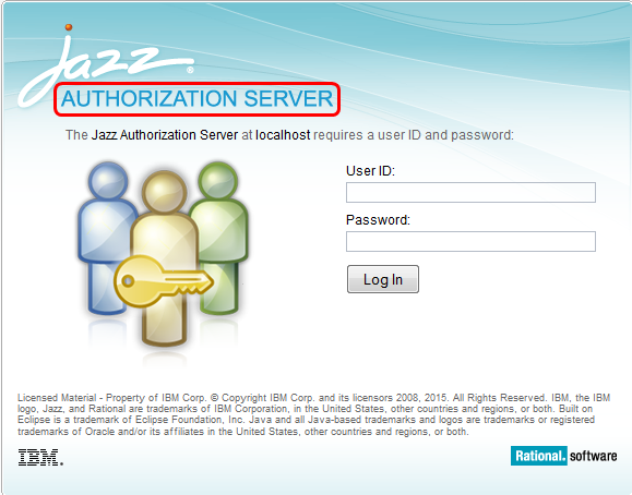 Jazz Authorization Server login form