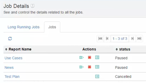 Job details page in Document Builder