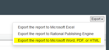 Export JRS Report