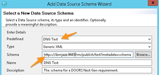 Add New DNG Text Schema