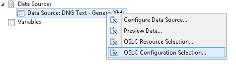 OSLC Configuration Selection