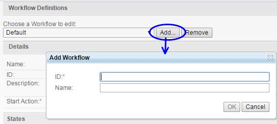 Add Workflow Dialog