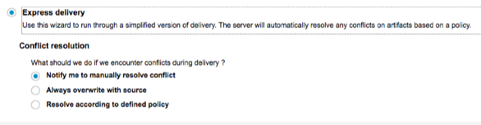 Delivery policy selection