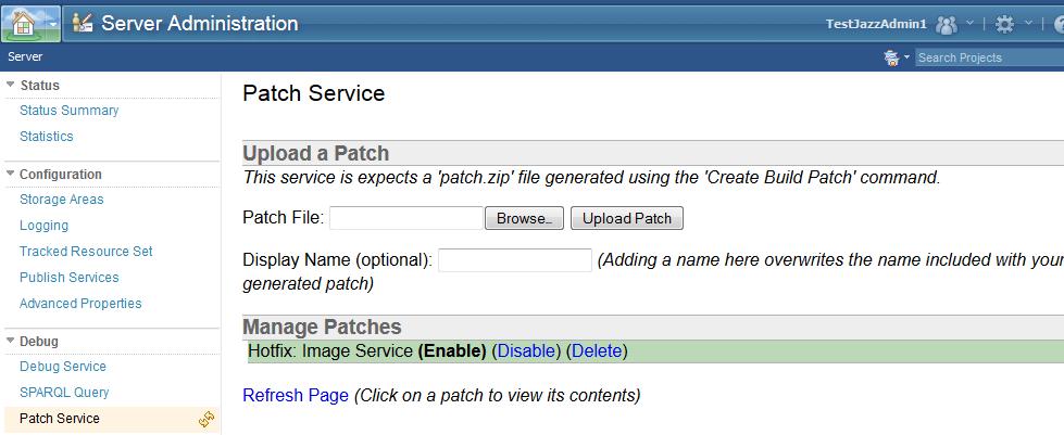 Patch Service feature