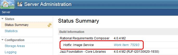 Server status summary