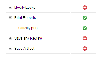 The Quickly Print and Print Reports permissions
