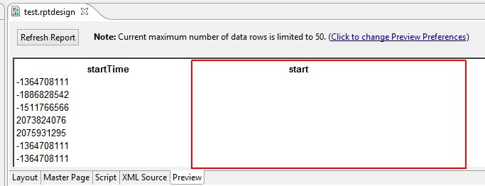 How convert time to string in Eclipse BIRT - Jazz Forum