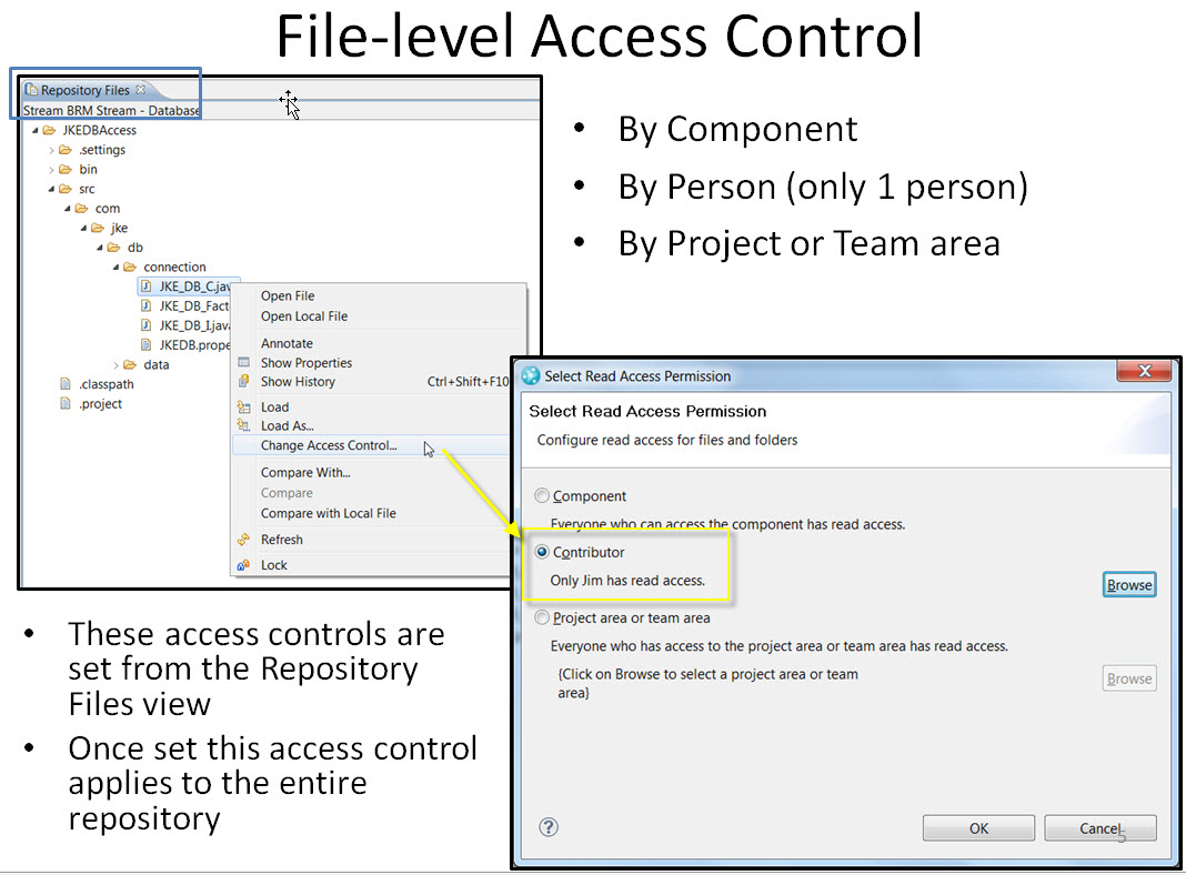 Setting Access Control on a File
