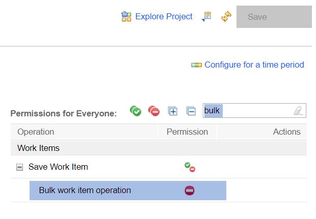 Bulk work item operation