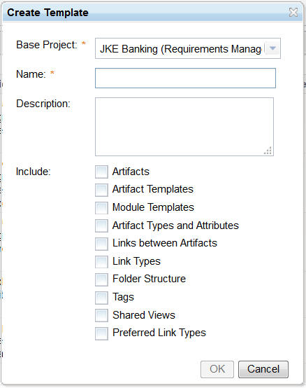 Create Project Template (options)