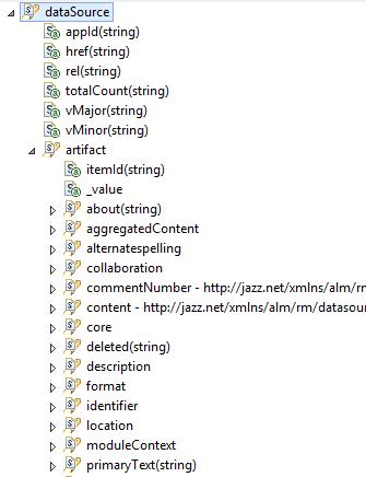 RDNG module's schema