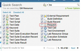 Uncheck Request option