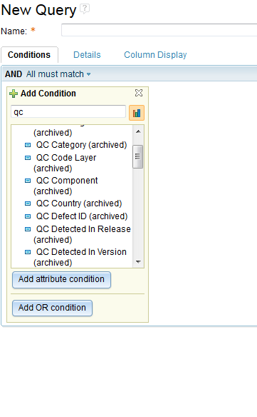 Filter Archived Attributes