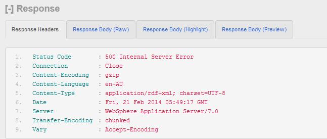 error response header