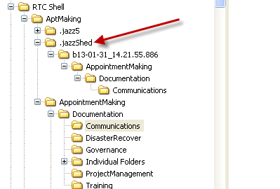 Getting  jazzshed directory in the my RTC Windows Shell