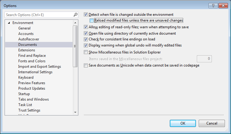 How to move changes from an outgoing folder back to