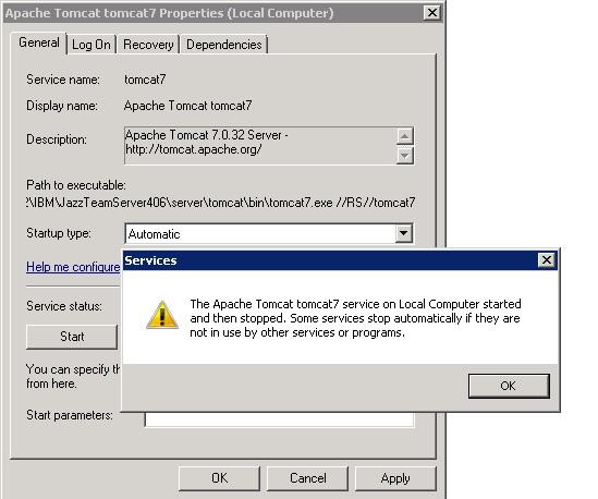 error when starting the apache tomcat 7 0 tomcat 7 service