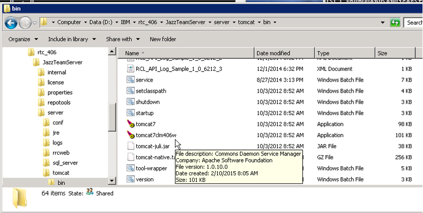 Why installing Tomcat Service erred out with