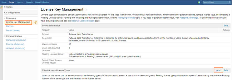 Adding data sources from a different Jazz Team Server(JTS