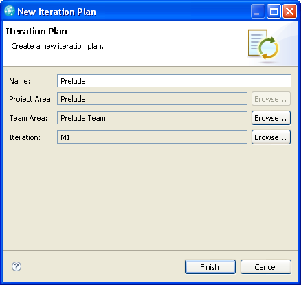 Create a new Iteration Plan