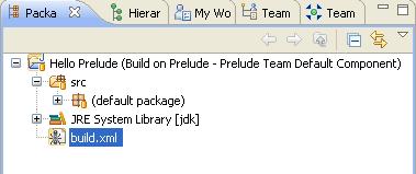 Project build script in Java package explorer