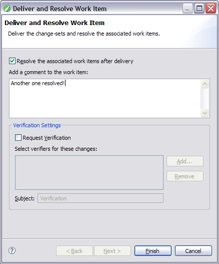 Deliver and Resolve Work Item
