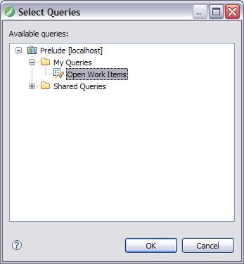 Select Queries dialog