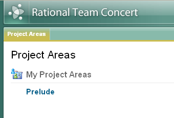 Project Areas from the WebUI