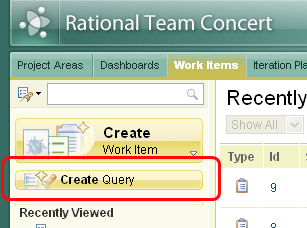 Create Query button