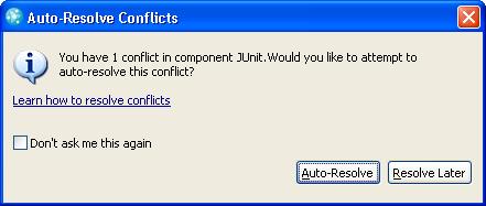Auto resolve prompt