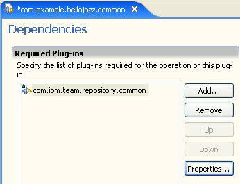 Depend on com.ibm.team.repository.common