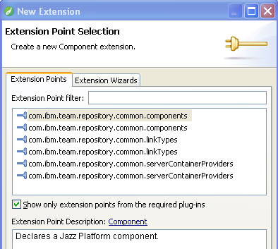 Select components extension point