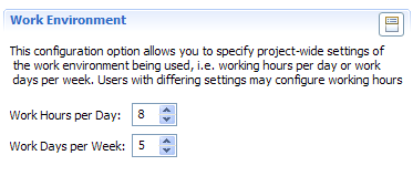 Work Resources Configuration Option