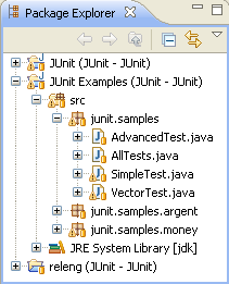 Package Explorer showing the project layout
