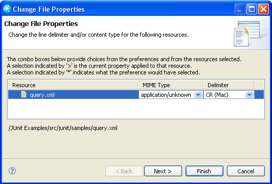 File properties for resource query.xml