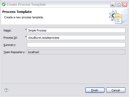 Process template wizard