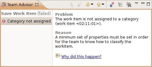 Team Advisor - Work Item Save