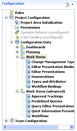 Work item customization in the Process Configuration in RTC 2.0