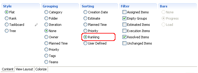 Defining the ranking attribute