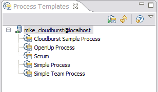 Process templates view