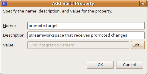 Screenshot of 'Add Build Property' dialog