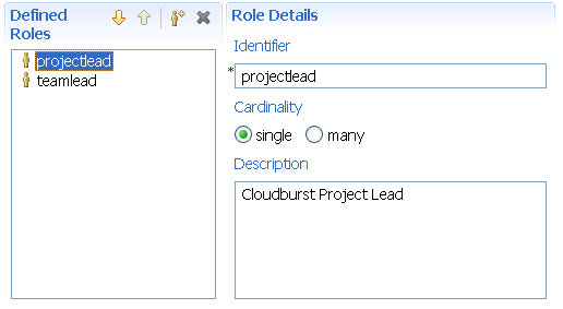 Role definitions (XML)